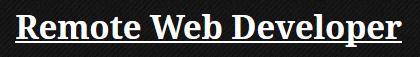 Kris Carewicz Web & Software Developer